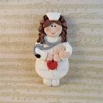 Nurse Christmas Ornament - Nurse Gift - Polymer Clay Nurse Ornament -11204