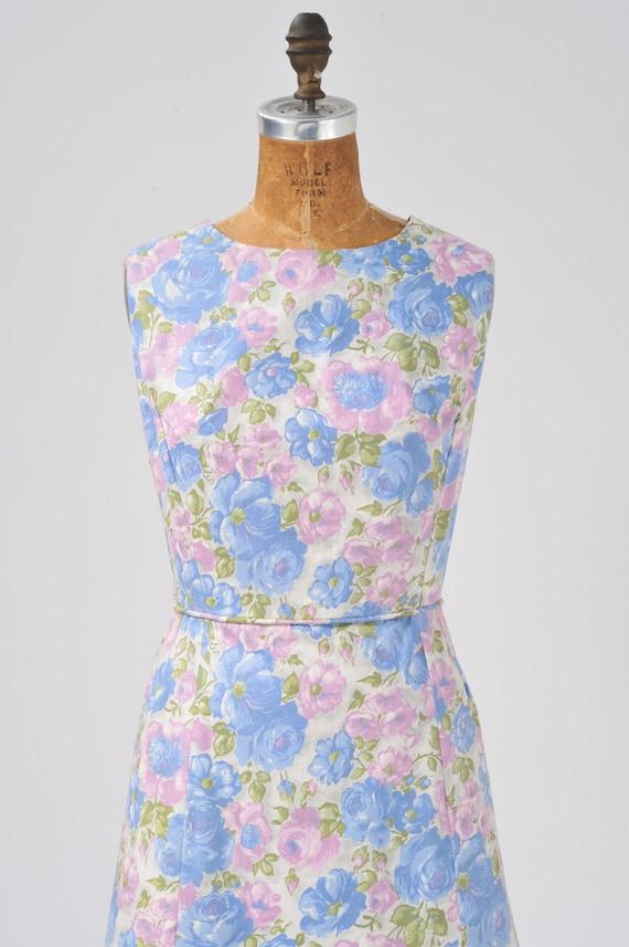Vintage 1950s Floral Dress Set, 50s Rose Floral P… - image 4