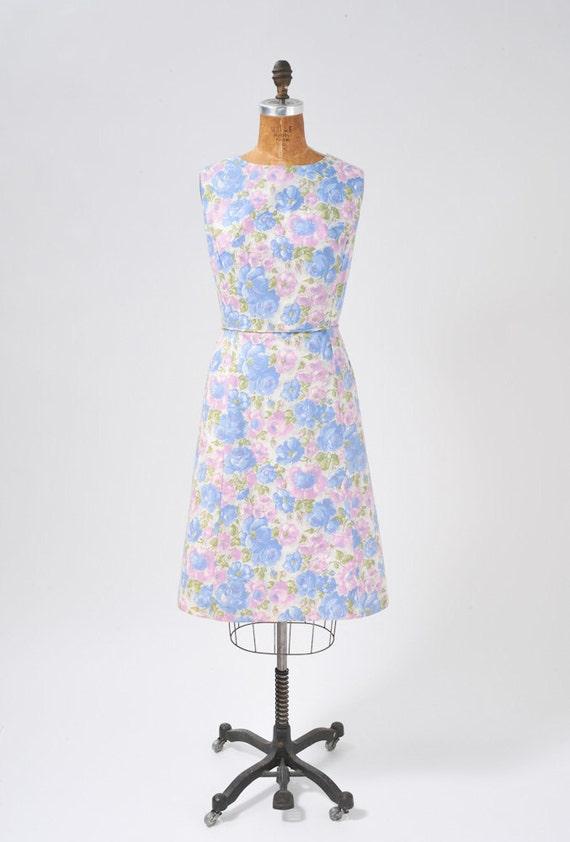 Vintage 1950s Floral Dress Set, 50s Rose Floral P… - image 2