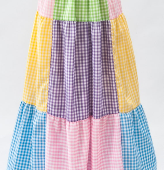 Vintage Boho Patchwork Maxi Dress, 60s Mod Dress,… - image 10