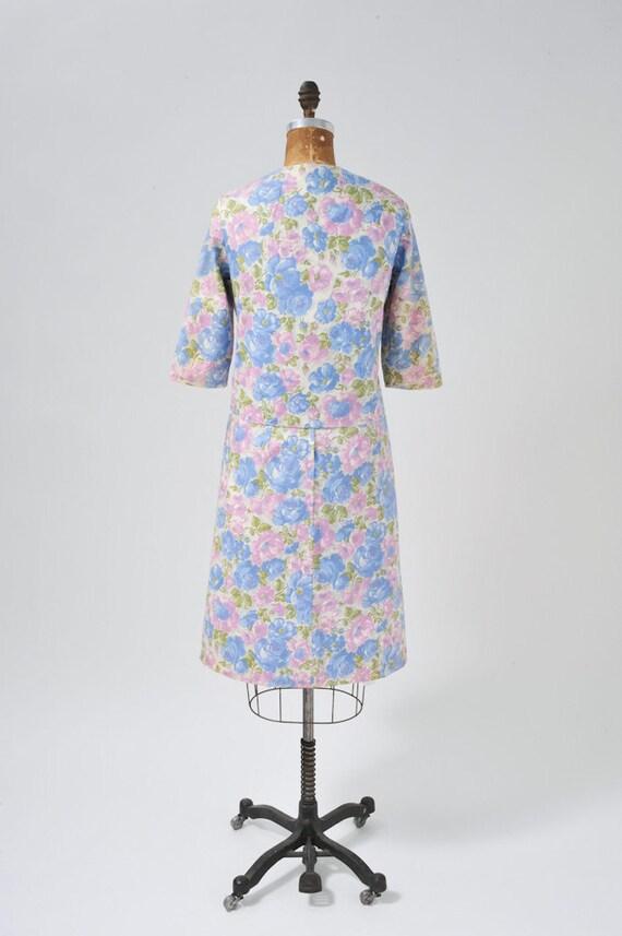 Vintage 1950s Floral Dress Set, 50s Rose Floral P… - image 3