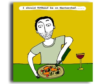 Humorous all occasion greeting card 'Masterchef'