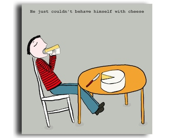 Humorous all occasion greeting card 'Cheese Man'
