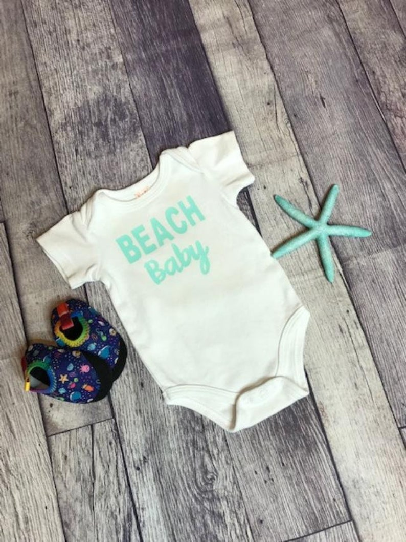 Take Home Outfit Announcement Onsie Baby Shower Gift Beach Baby Baby Boys Clothing Coming Home Outfit-Birthday