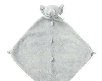Monogrammed Security Blanket, Elephant Lovie Blankie, Elephant Baby Gift