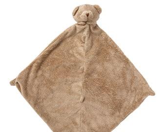 Monogrammed Security Blanket, Bear Lovie Blankie, Bear Baby Gift