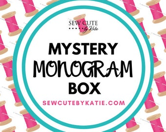 Mystery Monogram Box  Large Box