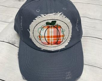 Denim blue Pumpkin trucker hat