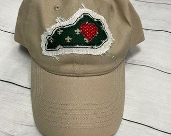 Khaki hat with Kentucky Applique