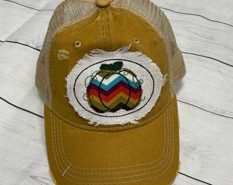 Mustard Pumpkin trucker hat