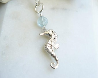 Seahorse Necklace With Birthstone