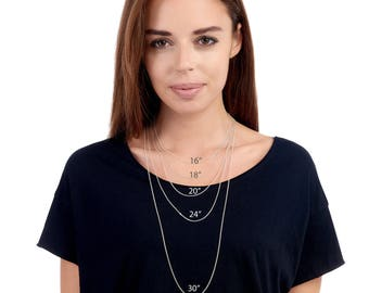 """Sterling Silver Chain: Curb 16"""", 18"""", 20"""", 24"""", simple silver chains"""