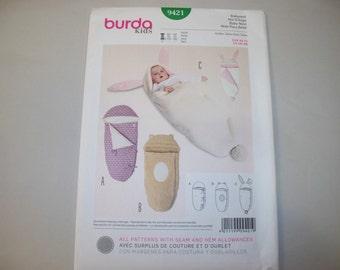 New Burda Baby Nest Pattern 9421 Free Us Shipping