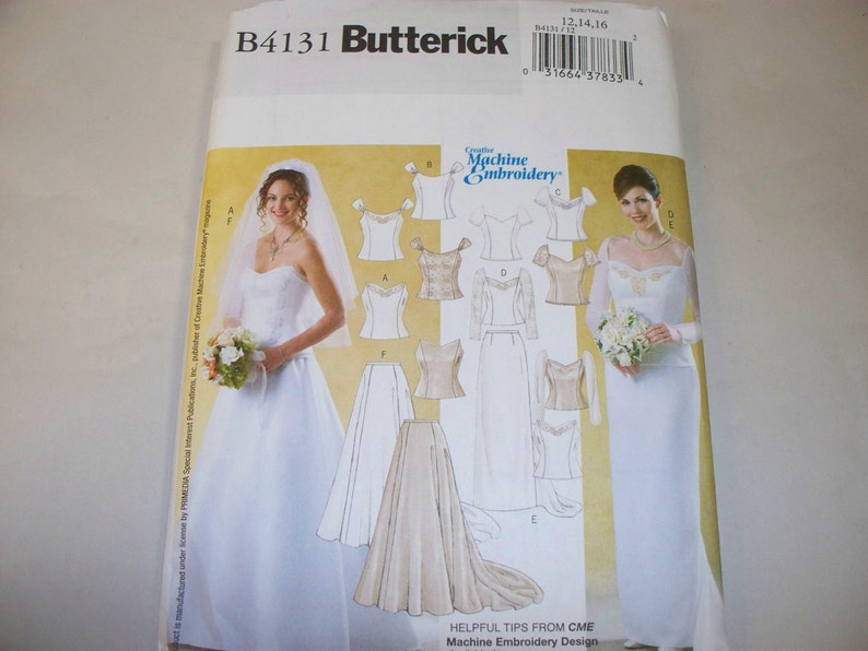 New Butterick Bridal Gown Pattern B4131 12 14 16 Free Us Shipping