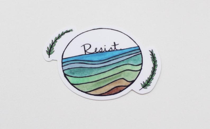 Resist Watercolor Sticker  Weatherproof Outdoor Sticker / image 0