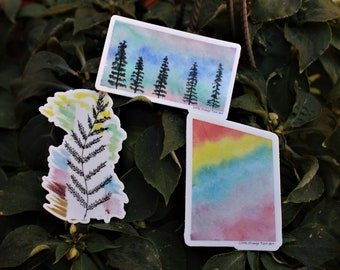 June Babe Sticker Set [Buy Individually or As A Set] — Unique Waterproof Art Stickers Made From Hand-Drawn Designs; Pride Gifts