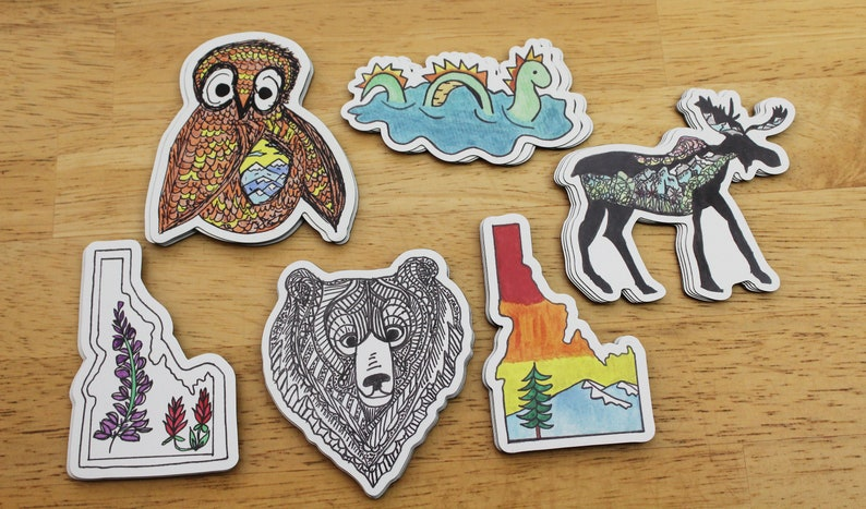 Alpine-inspired Art Magnets Made From Hand-Drawn Designs  image 0