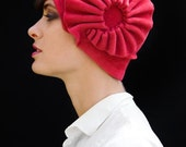 pink accordion cloche - made to order