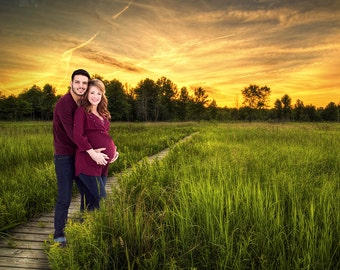 tall grass field sunset. Digital Background, Photo Overlays, Background Replacement, Photography Backgrounds \u0026 Backdrops, Boardwalk, Tall Grass Field, Sunset Field