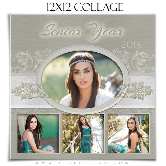senior girl collage template set imagine 3 photoshop etsy