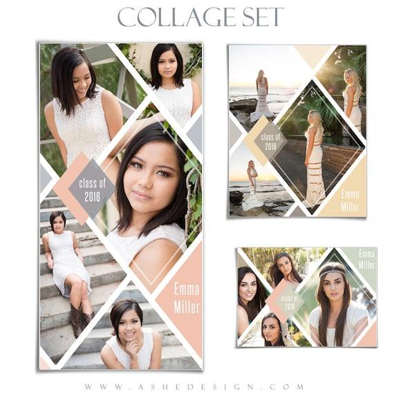 Senior collage template set diamonds 3 photoshop collage etsy image 0 maxwellsz