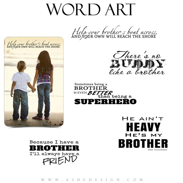 Family Word Art Quotes Photo Overlays For Scrapbooking Oh Etsy