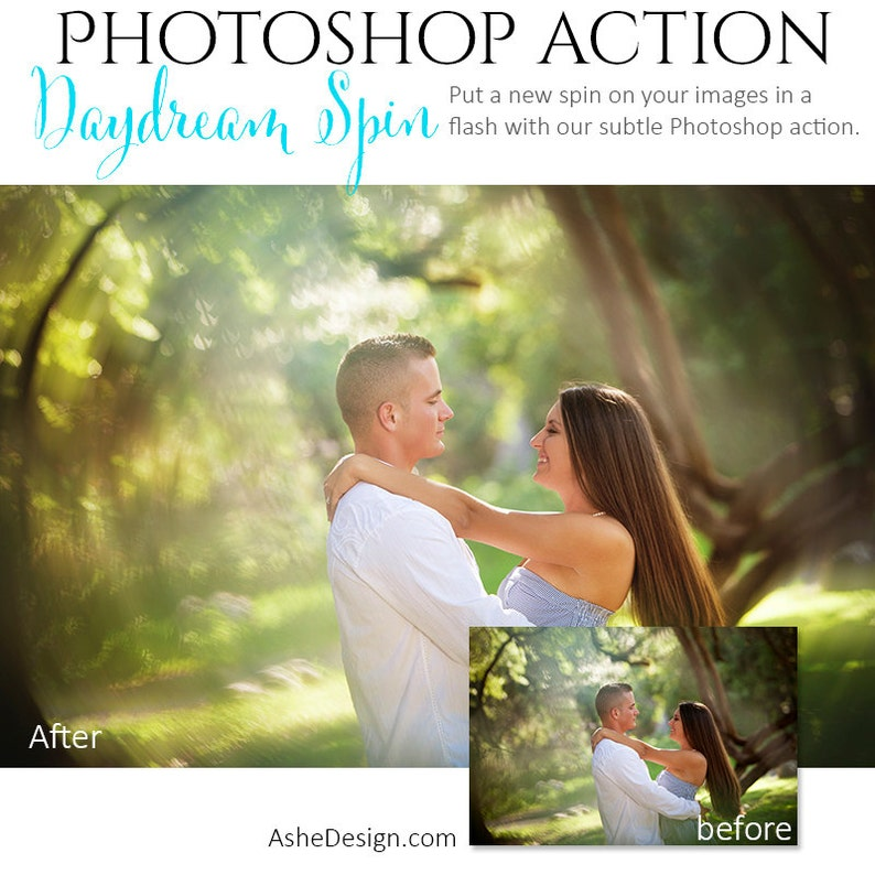 Photoshop Action | Daydream Spin - Photography Editing Made Easy With This  One (atn) Action to Install on Your Computer