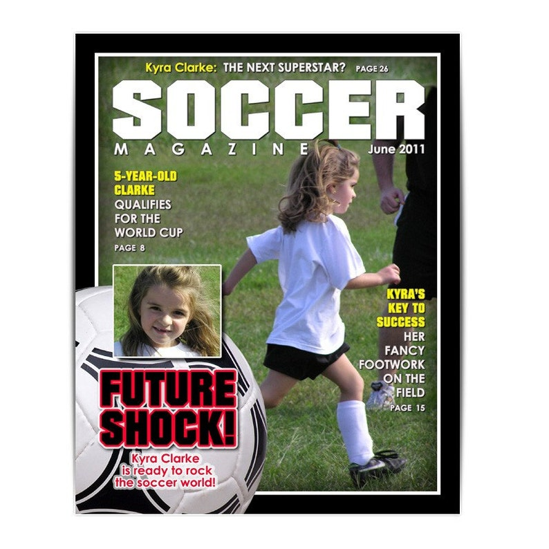 Photoshop Template Sports Design 8x10 Soccer Magazine Cover 1 Digital Template For Photographers Scrapbookers