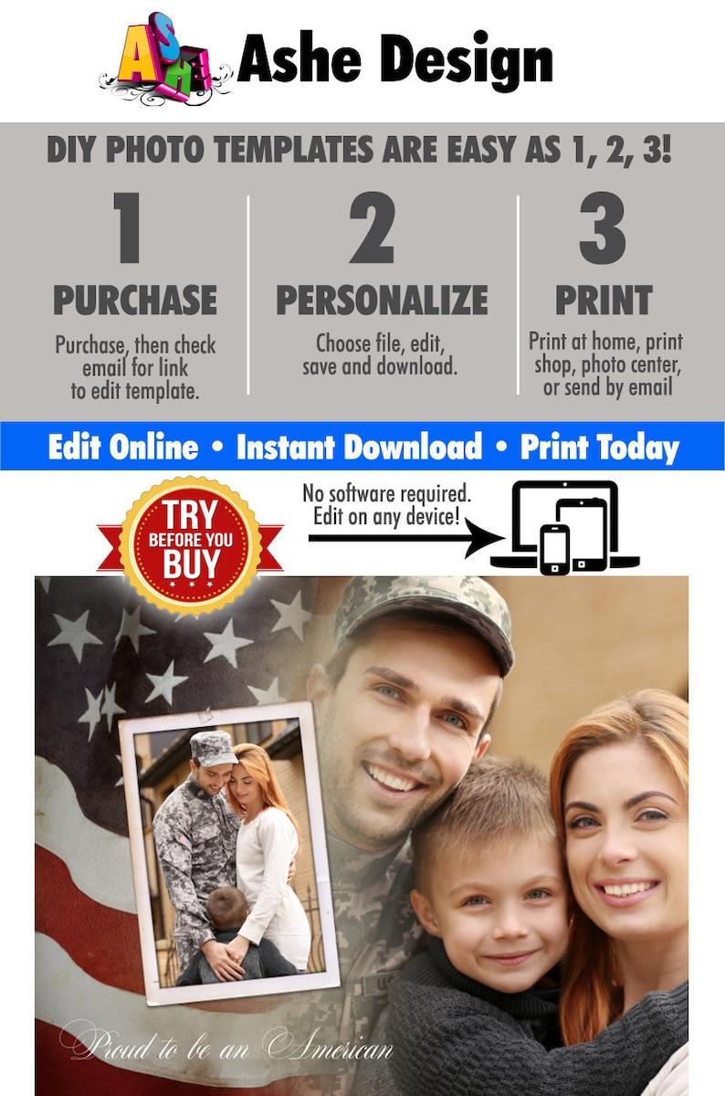 DIY Printable American Pride Collage \u2022 Print Today \u2022 Digital Download \u2022