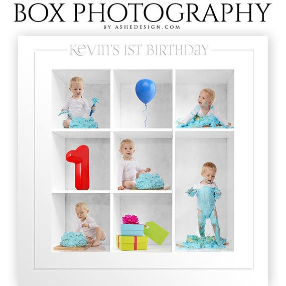 photoshop templates box session photography collage template etsy
