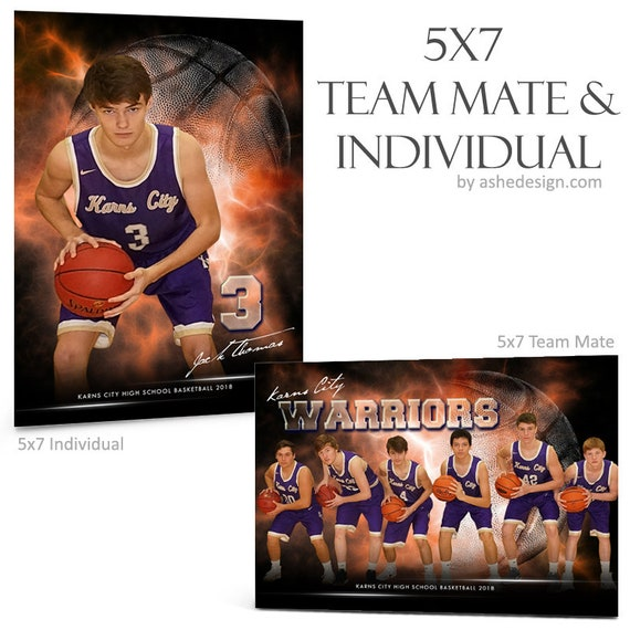 Photoshop Templates Team Mates Individual Sports Etsy