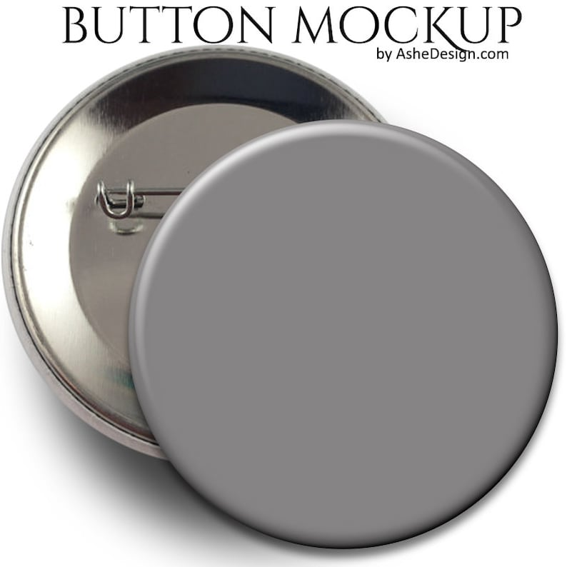 MOCK-UP - Sports Buttons - (1) Digital  PSD Photoshop Template for Sports  Button Web Display
