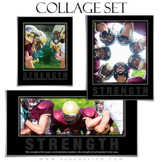 motivational sports collage set strength 3 photoshop etsy