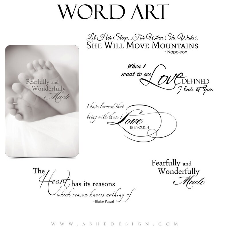 Love Word Art Quotes Photo Overlays For Scrapbooking Etsy