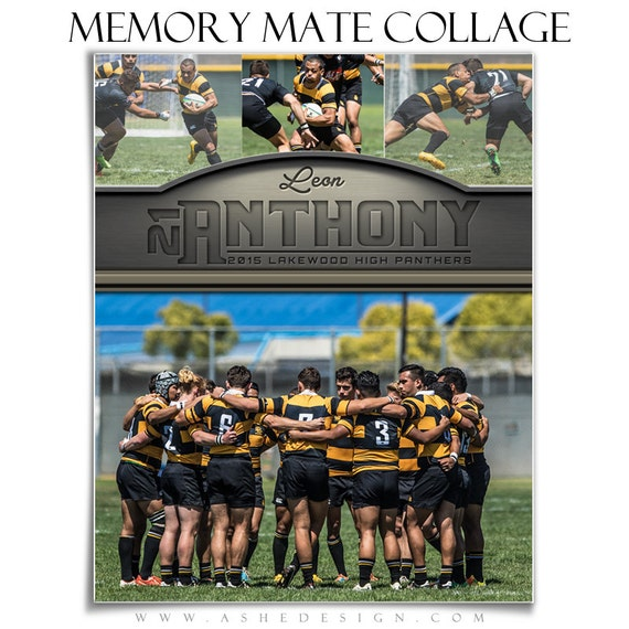 photoshop templates sports collages 8x10 silver gold etsy