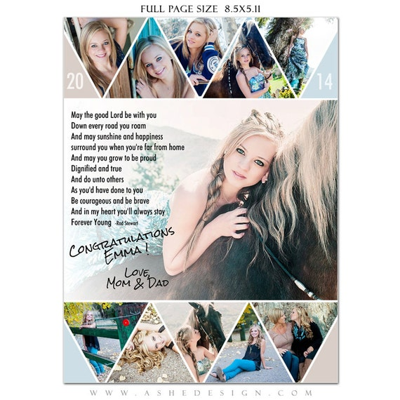 Senior Yearbook Ads Photoshop Templates PENNANT High Etsy
