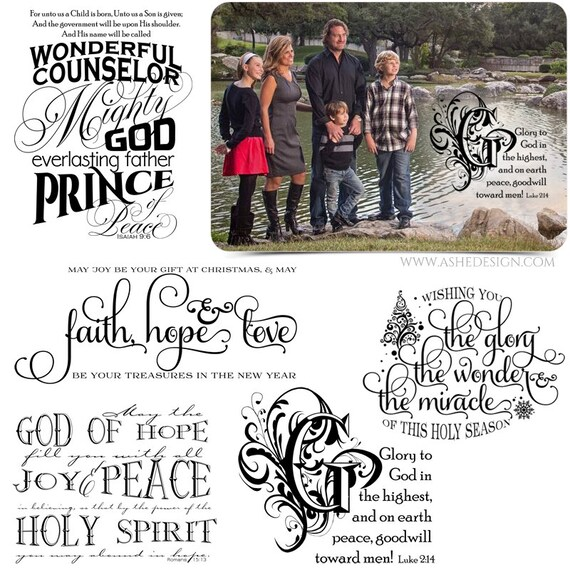 Religious Word Art Quotes Photo Overlays for Scrapbooking | Etsy