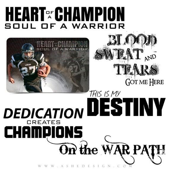 Sports Word Art Quotes Photo Overlays For Scrapbooking Soul Etsy