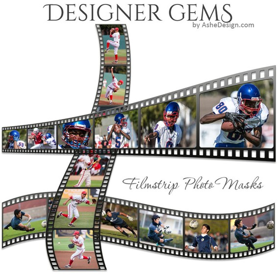 Designer Gems Film Strip Photo Masks 3 Psd Layered Etsy