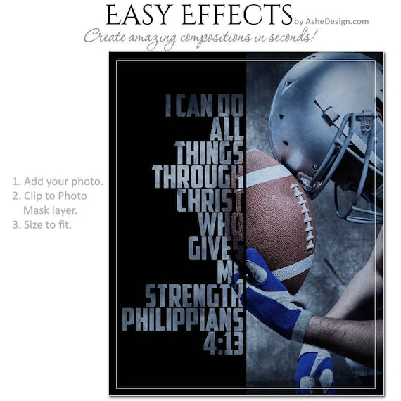 Photography Posters 1 1 Easy Effects 16x20 .PSD Files. Photoshop Templates Football Helmet - 8x10 /& SPORTS SEGMENT