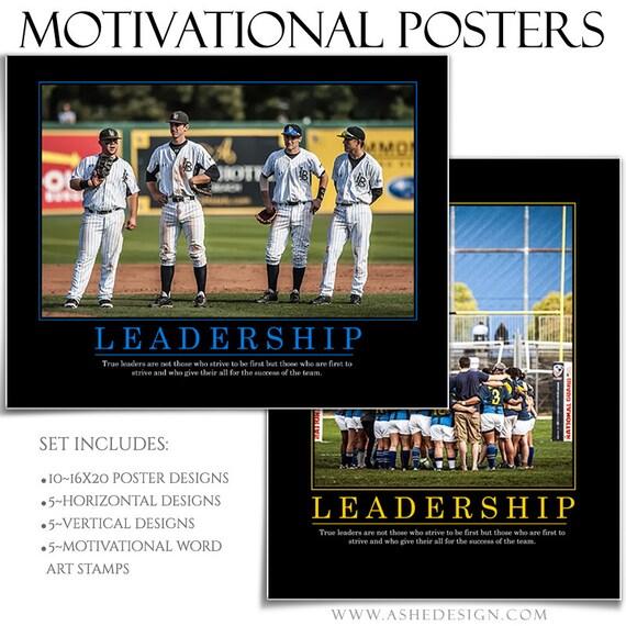 sports poster set motivational series set 5 5 16x20 etsy