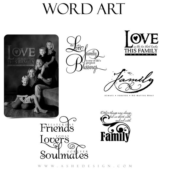 Love Word Art Cytaty Photo Nakładki Na Scrapbooking Moja Etsy