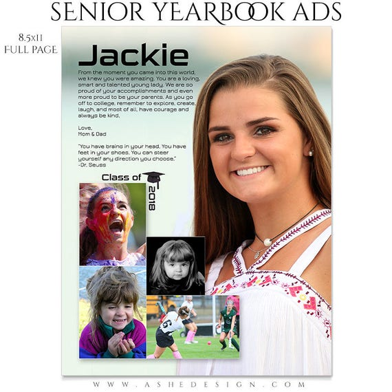 Senior Yearbook Ads Photoshop Templates Through The Years