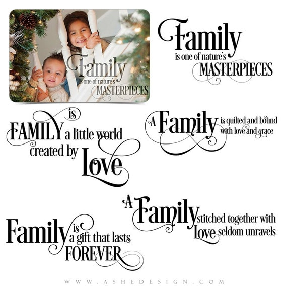 Love Word Art Quotes Photo Overlays For Scrapbooking Family Etsy