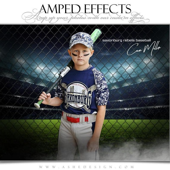 Tidal Wave BaseballSoftball Photoshop Collage Templates for Teams and Individuals Instant Download Sports Poster Template Set