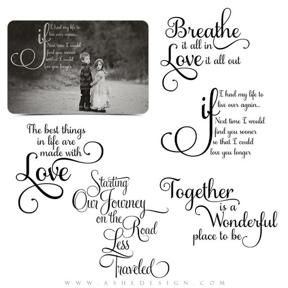 Love Word Art Quotes Photo Overlays For Scrapbooking Our Etsy