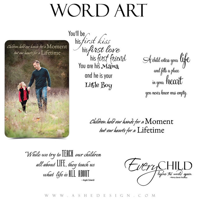 Inspirational Family Word Art Quotes Photo Overlays For Etsy