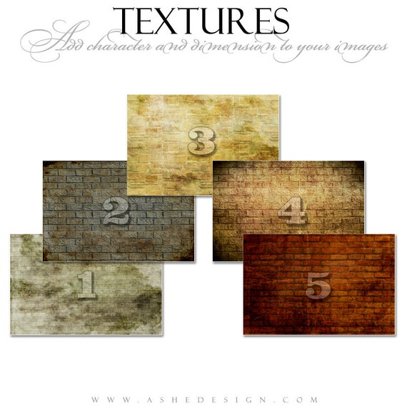 TEXTURE OVERLAYS - BRICK Wall - Expertly Designed Digital Photography Backdrops for Photoshop.