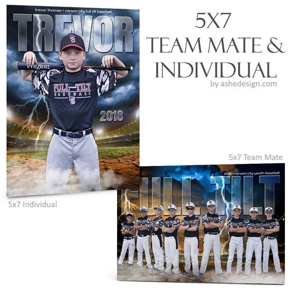 Sports Photography 5x7 Photoshop Templates 2 Breaking Ground Soccer - Team Mates /& Individual Digital Files Sports Collages