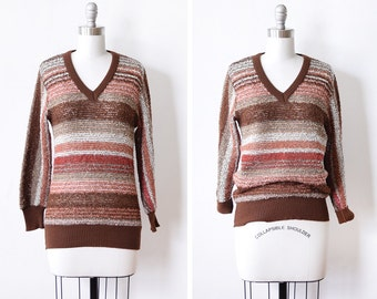99749fe42891 80s striped sweater vintage pink and white sweater chunky